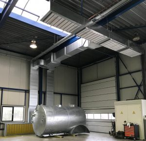 afbeelding over schuurstof filterinstallatie voor stofafzuiging bij stralen en spuiten